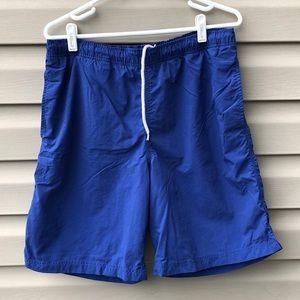 Lands End men's royal blue swim trunks